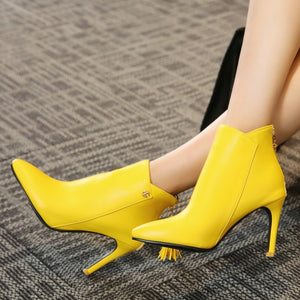Fringe Stiletto Meotina Heels - SHOPPLEHUB