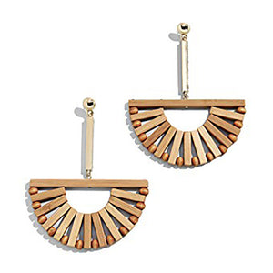 Handmade Bamboo Drop Earrings - SHOPPLEHUB