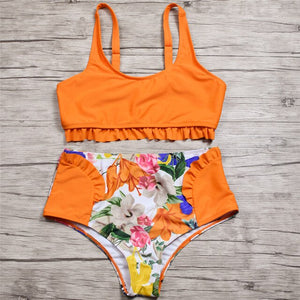 Bikini-Set Rose Bathing Suit - SHOPPLEHUB