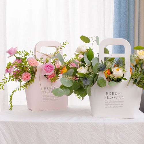 Kraft Paper Flower Bags with Handles (5pcs large) - SHOPPLEHUB