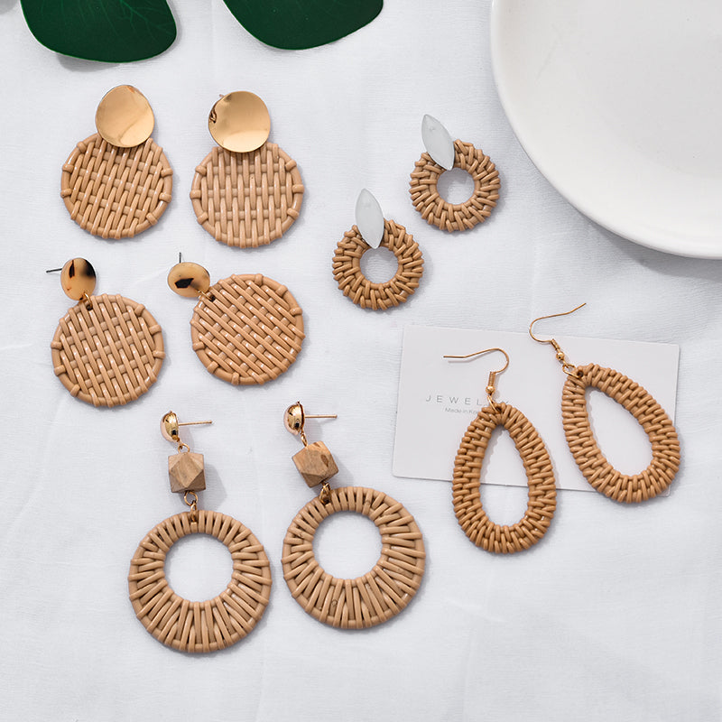 Handmade Geometric Earrings - SHOPPLEHUB