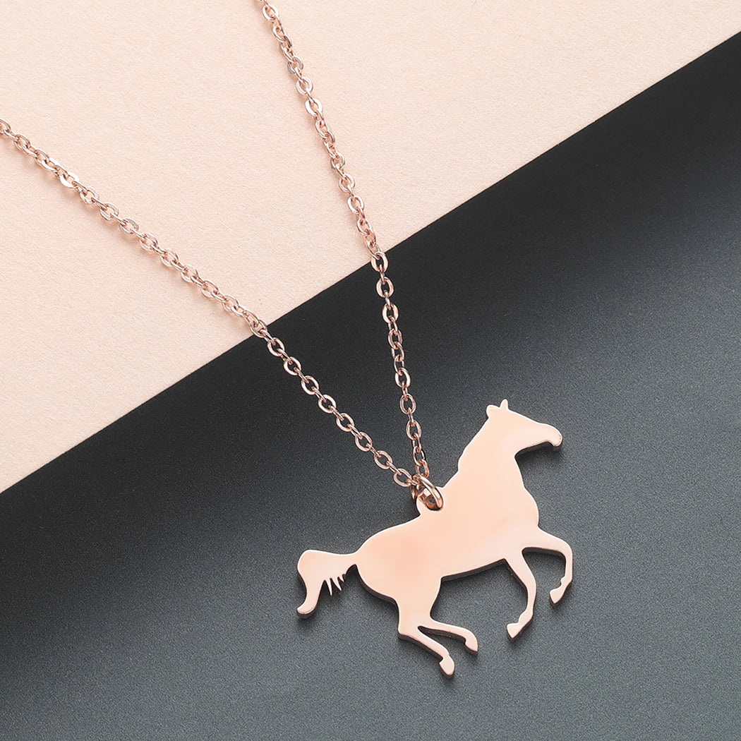 Rodeo Country Horse Pendant Necklace - SHOPPLEHUB