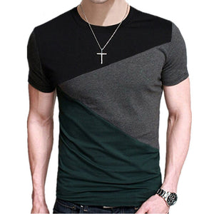 Contrast Color Slim Fit T-Shirt - SHOPPLEHUB