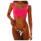 Rainbow Colored Bikini Set - SHOPPLEHUB