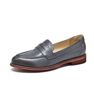 Moccasin Slip On Pointed Toe Loafers