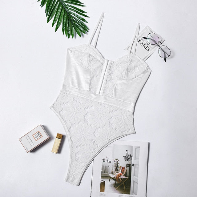 Lace Detail Bodysuit - SHOPPLEHUB