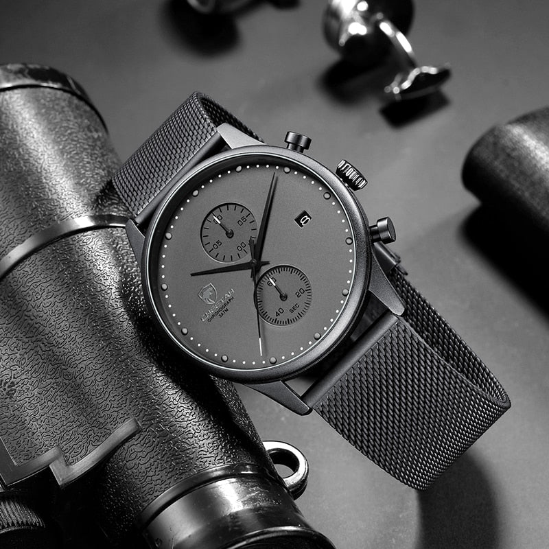 Chronograph Quartz Watch - SHOPPLEHUB