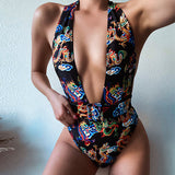 Dragon Print High Cut Monokini