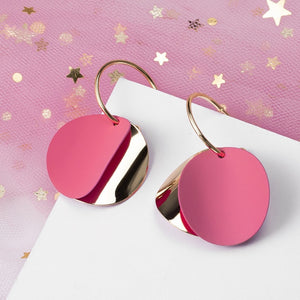 Pink Korean Statement Earrings