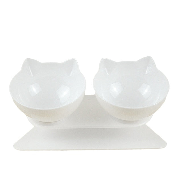 Tilted Anti Slip Double Feeder Bowls