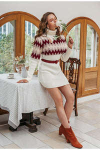 Autumn/Winter Turtleneck Sweater Dress