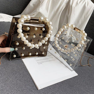 Pearl Handle Jelly Messenger Bag