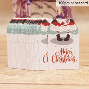 100pcs Christmas Gift Label