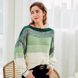 Oversized Knitted Stripe Sweater