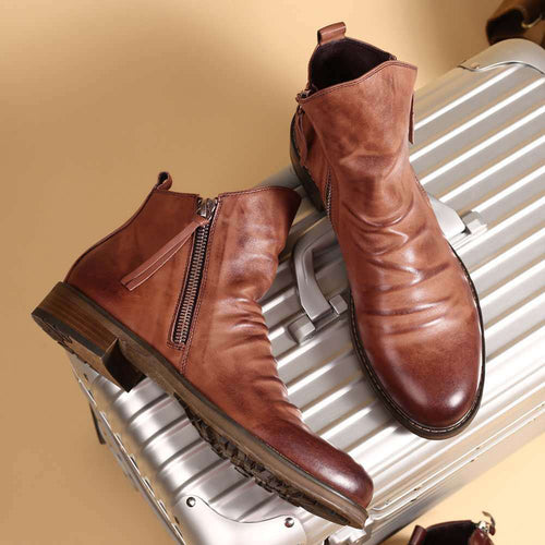 Verktaka Men Leather Boots