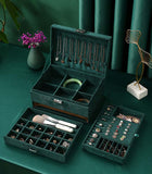 Green Velvet Jewelry Organizer