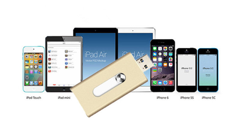 USB Storage Drive for Iphone, Ipads, Ipod, IOS - SHOPPLEHUB
