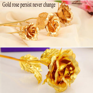 24k Gold Plated Rose - SHOPPLEHUB