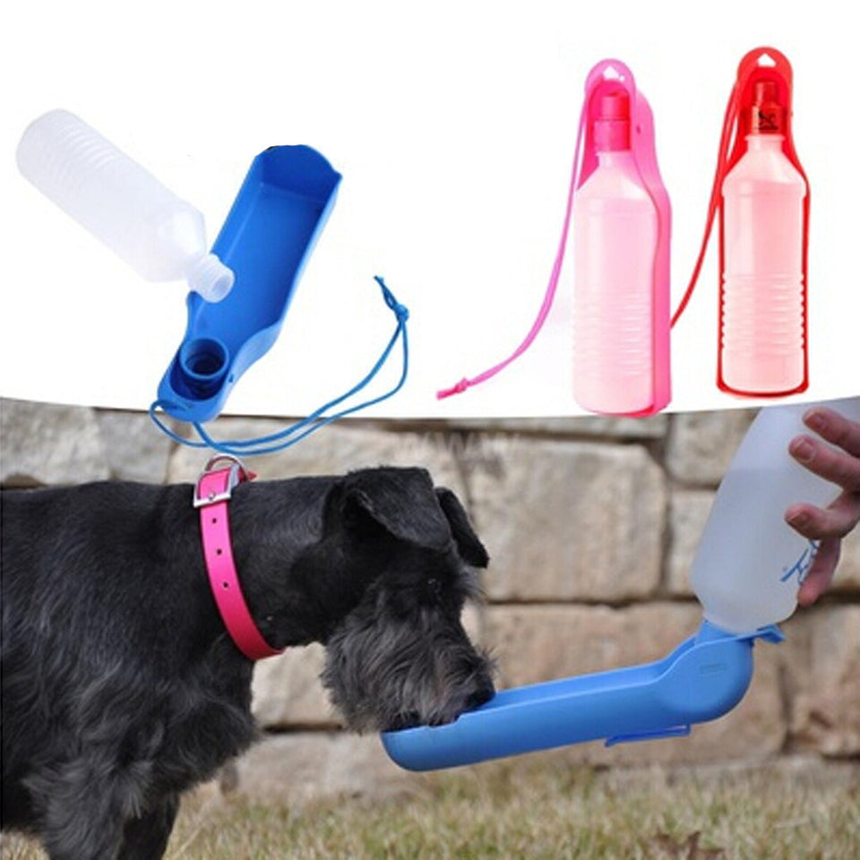 Water dog / cat feeding bottle travel portable automatic dispenser - SHOPPLEHUB