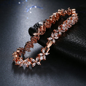 AAA Cubic Zircon Flower Bracelets - SHOPPLEHUB