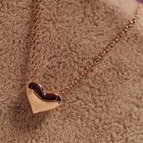 Romantic Heart Shape Body Jewelry Statement Chain Pendant Necklace - SHOPPLEHUB