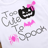 4PCs Set Newborn Infant Baby Girl Letter Romper Tops+Pants Halloween Outfits-Clothes - SHOPPLEHUB