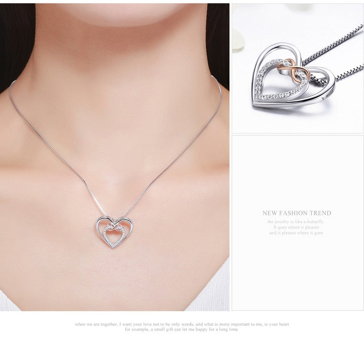 Infinity Love Forever Heart Necklace - SHOPPLEHUB