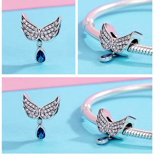 Authentic 925 Sterling Silver Angel Wings Charm - SHOPPLEHUB