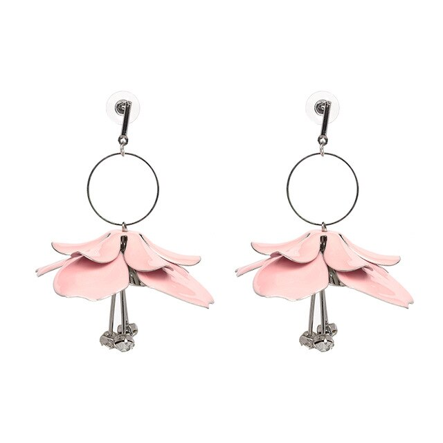 Metallic Statement Earrings - SHOPPLEHUB
