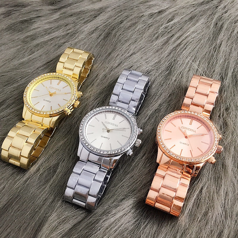 Ladies Stainless Steel Vogue Watches - SHOPPLEHUB
