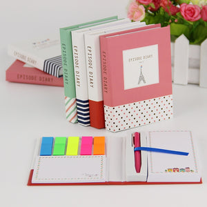 1 PC Creative Hardcover Notepad + Sticky Notes - SHOPPLEHUB