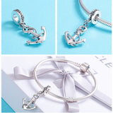 Sterling Silver Rope & Anchor Charm - SHOPPLEHUB