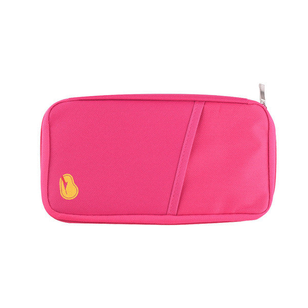Zipped Travel Wallet - Assorted Colors - SHOPPLEHUB