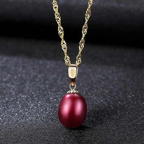 Elegant 18K Yellow Gold Pearl Necklace - SHOPPLEHUB