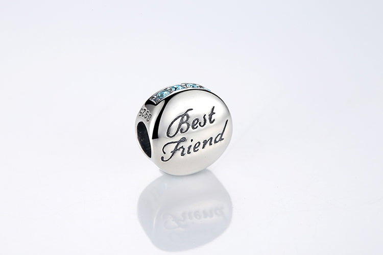 Sterling Silver BEST FRIEND Charm - SHOPPLEHUB