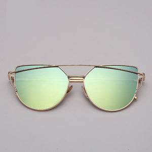 Vintage Reflective Cat Eye Sunglasses - SHOPPLEHUB