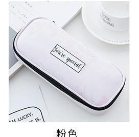 Marble Pattern Positive Message Leather Pen Case - SHOPPLEHUB