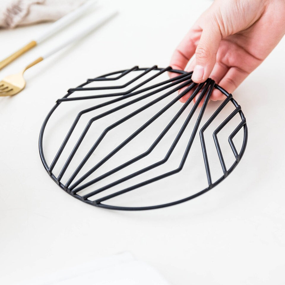 Nordic Style Wrought Iron Pot Coaster - SHOPPLEHUB