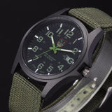 Men Stainless Steel Military Quartz Watch - SHOPPLEHUB