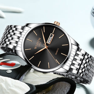 Classic Stainless Steel Watch - SHOPPLEHUB