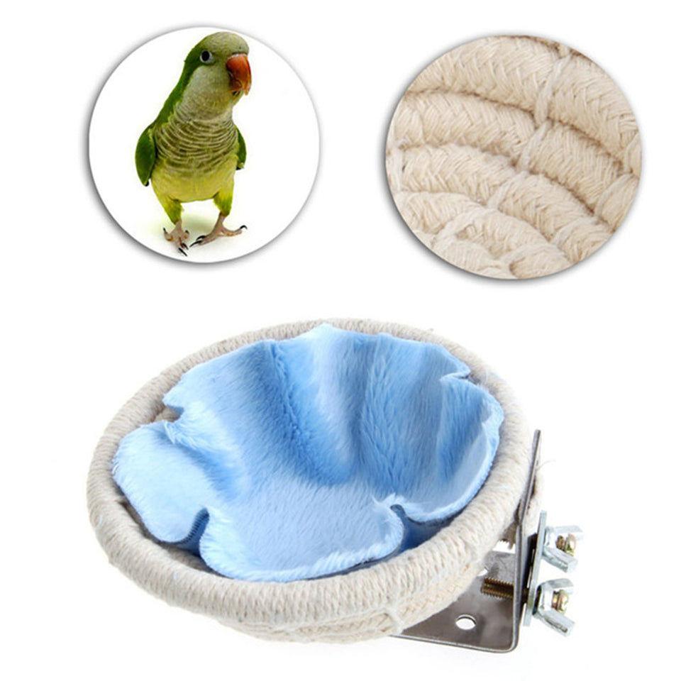 Handmade Cotton Weave Hemp Rope Nests Birds Breeding Hatching Nest - SHOPPLEHUB