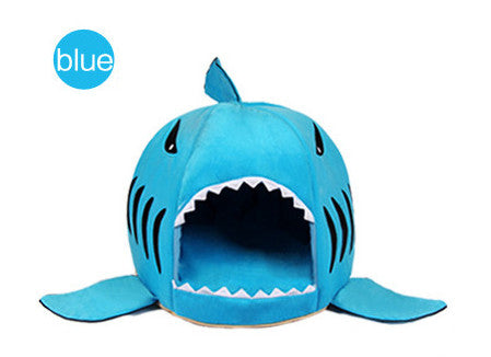 Soft Dog House For Large Dogs Warm Shark Dog House Tent - SHOPPLEHUB