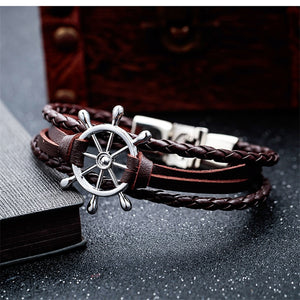 Leather Charm Helm Bracelet - SHOPPLEHUB