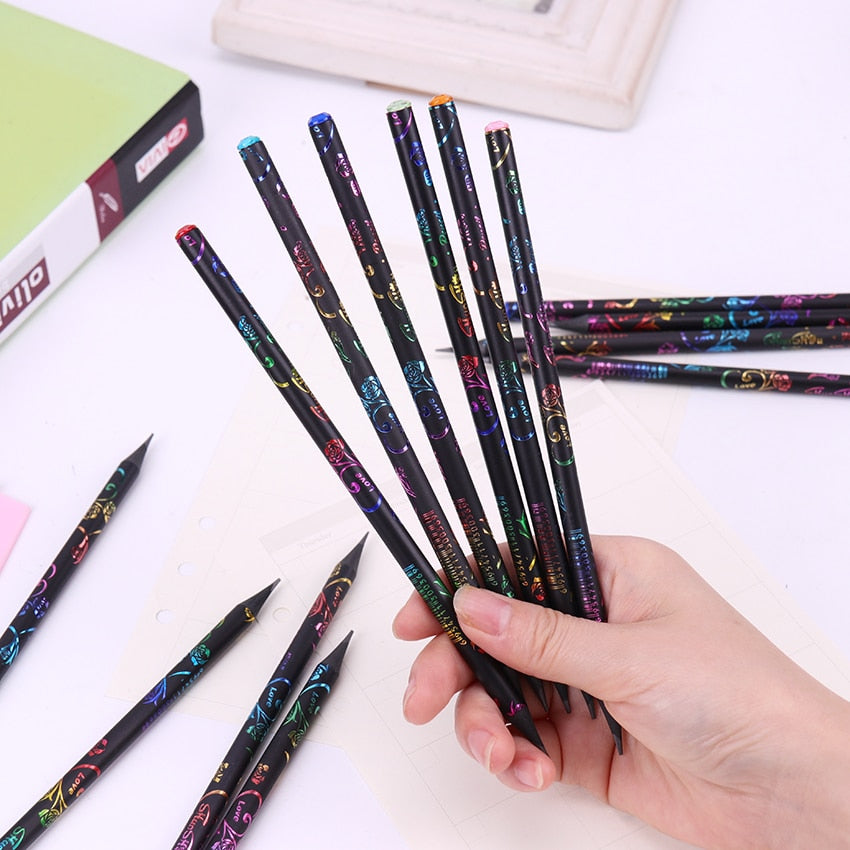 6PCS/Set HB Diamond Styled Pencils - SHOPPLEHUB