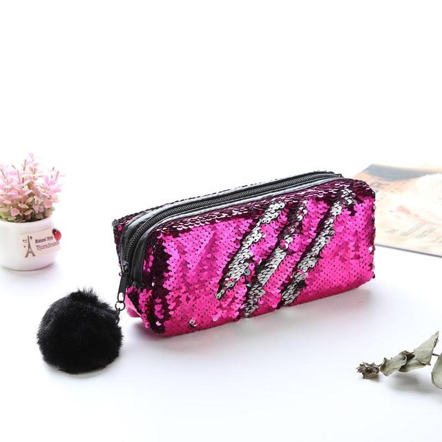 Reversible Sequin Pencil Case - SHOPPLEHUB