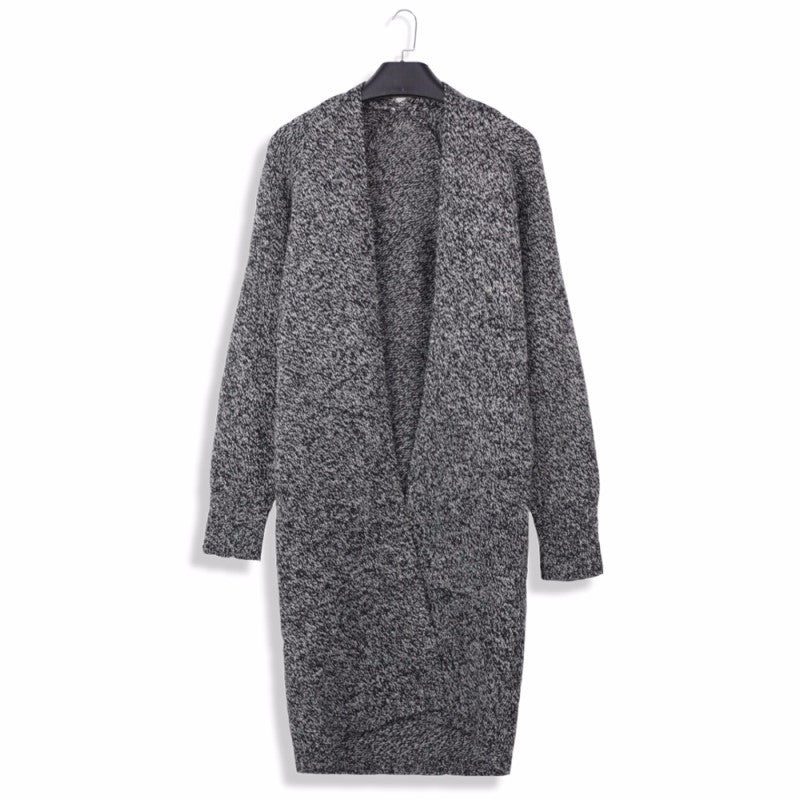 Women's Long Knitted Cardigan - SHOPPLEHUB