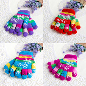 Children Winter Knit Gloves - SHOPPLEHUB