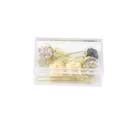 5pcs Box Glass Ball Paper Clips - SHOPPLEHUB