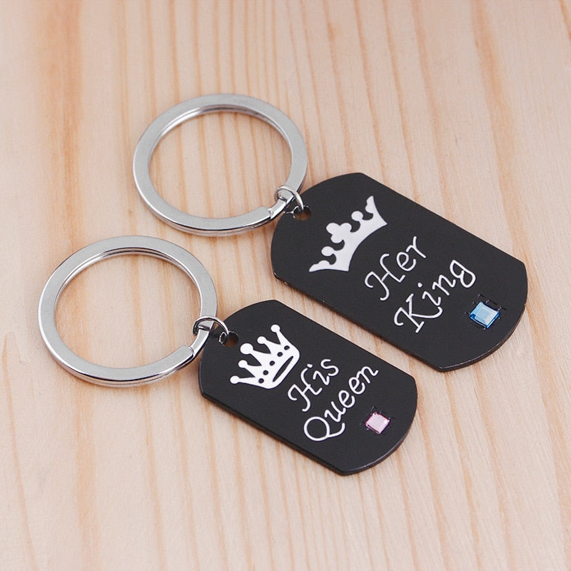 Her King & His Queen Tag Key-chain - SHOPPLEHUB