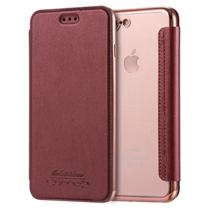 Luxury Leather Phone Case For iPhone X XR XS Max 5 5S SE 6 6S 7 8 Plus - SHOPPLEHUB